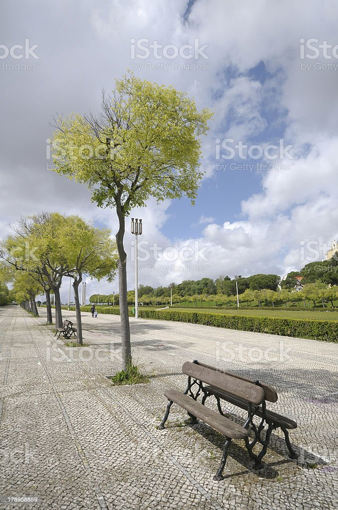 Promenade in lisbon royalty-free stock photo
