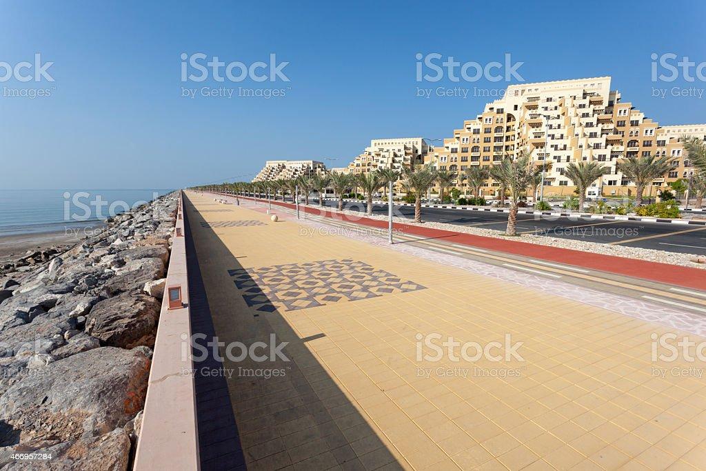 Promenade in Ras Al Khaimah stock photo
