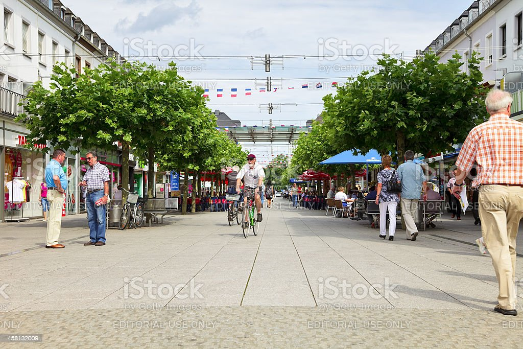 Promenade in Saarlouis royalty-free stock photo
