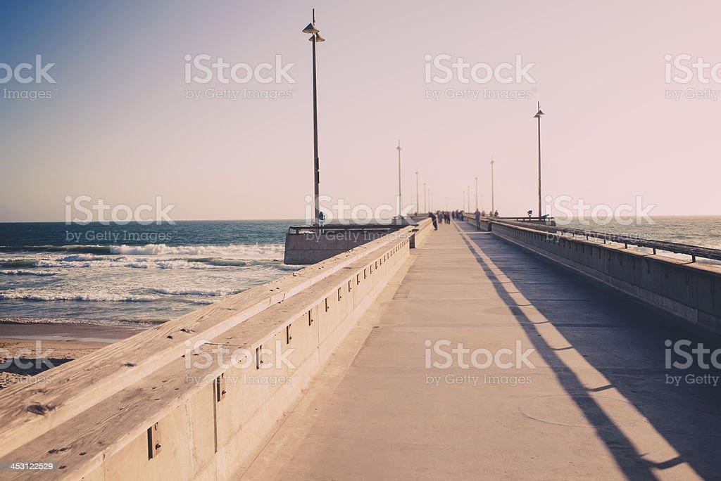 Promenade in Santa Monica royalty-free stock photo