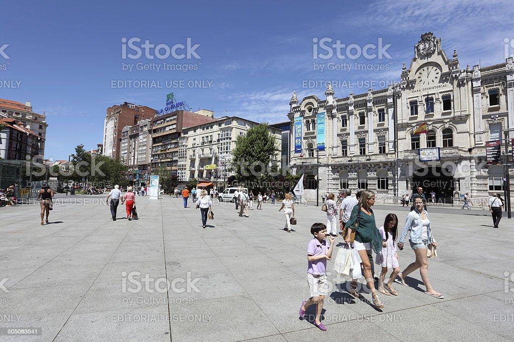 Promenade in Santander, Cantabria, Spain stock photo
