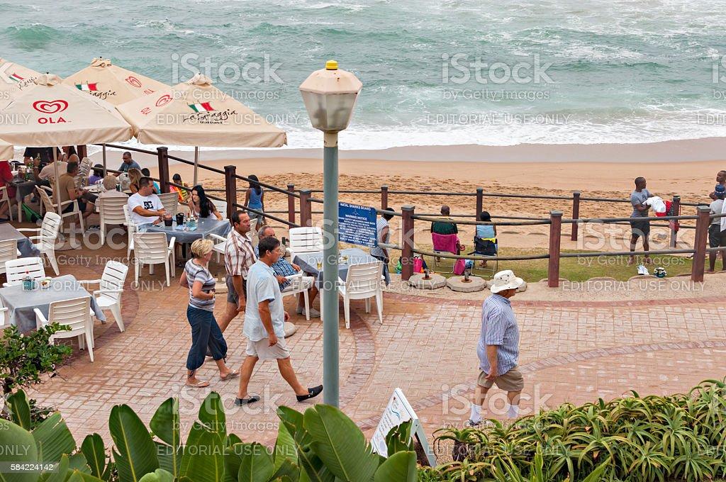 promenade in Umhlanga Rocks stock photo