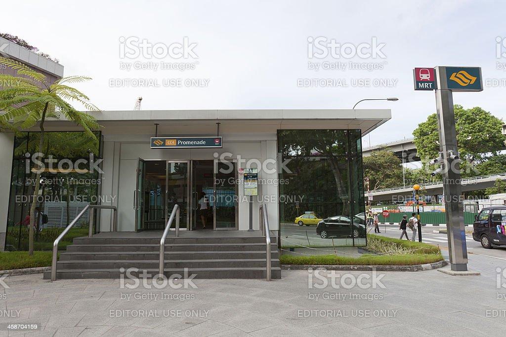 Promenade MRT Station in Singapore royalty-free stock photo