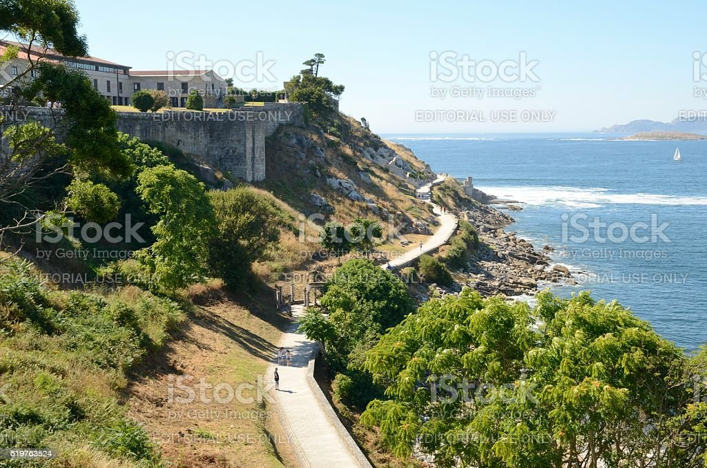 Promenade next to the fortress stock photo