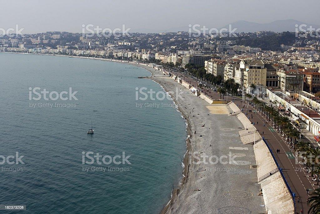 Promenade of the English, Nice, France royalty-free stock photo