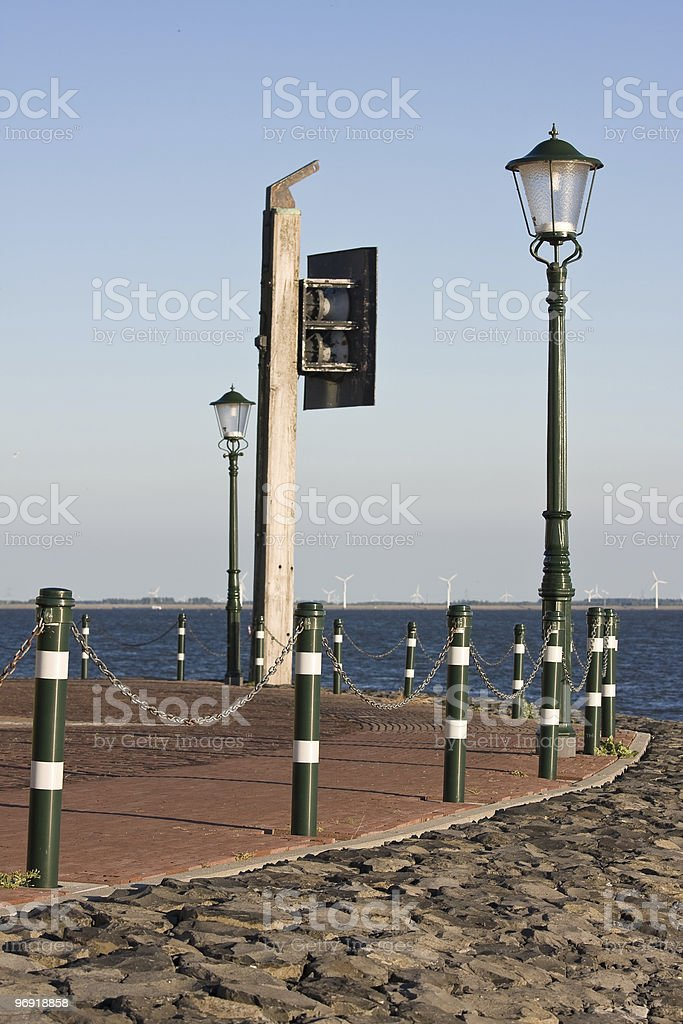 Promenade of Urk, the Netherlands stock photo