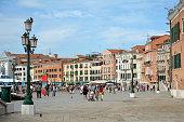 Promenade Riva Schiavoni of Venice - Italy.