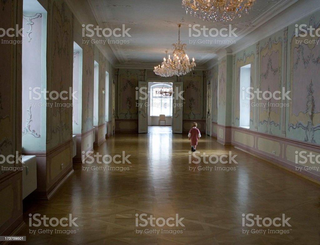 Promenade through royal interior royalty-free stock photo