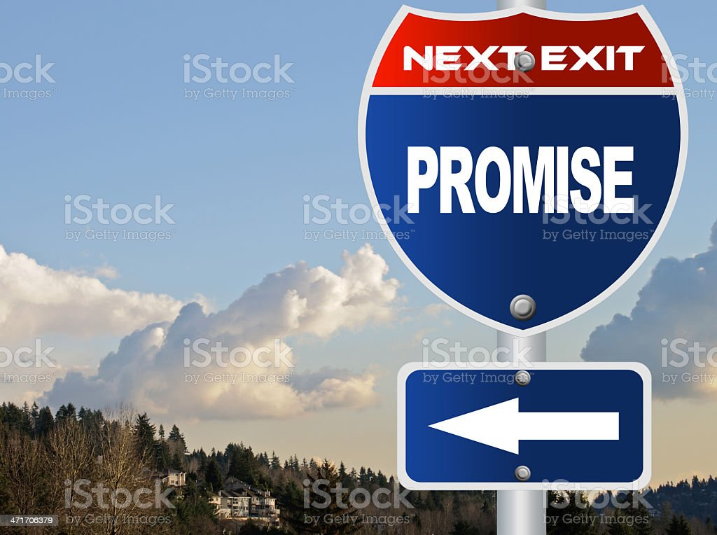 Promise road sign royalty-free stock photo
