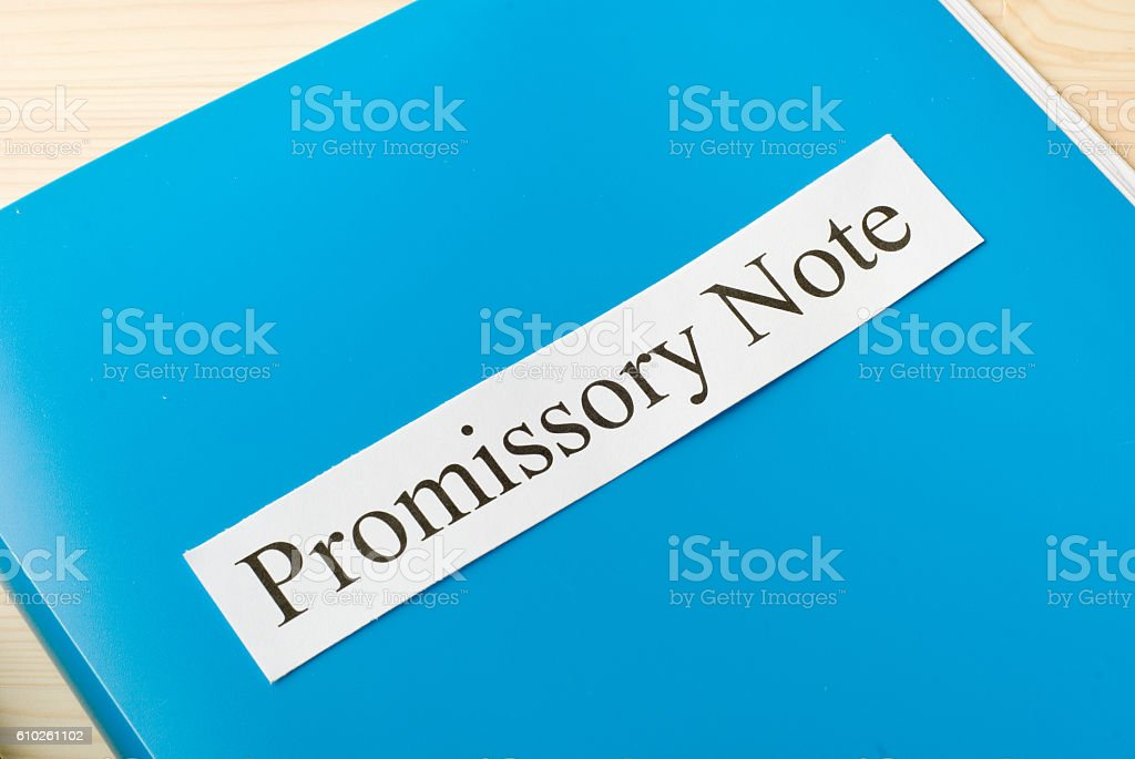 promissory note stock photo
