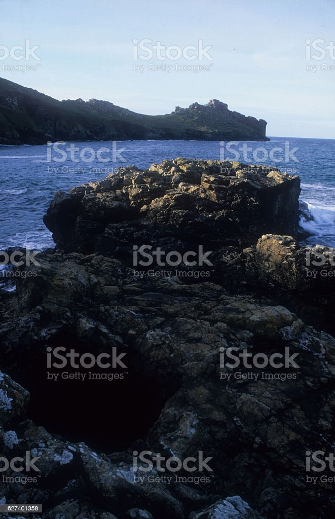Promontory Fort Gurnard's Head stock photo