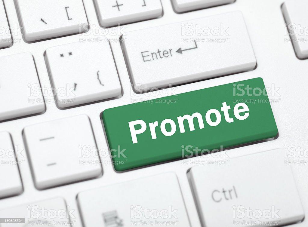 Promote royalty-free stock photo