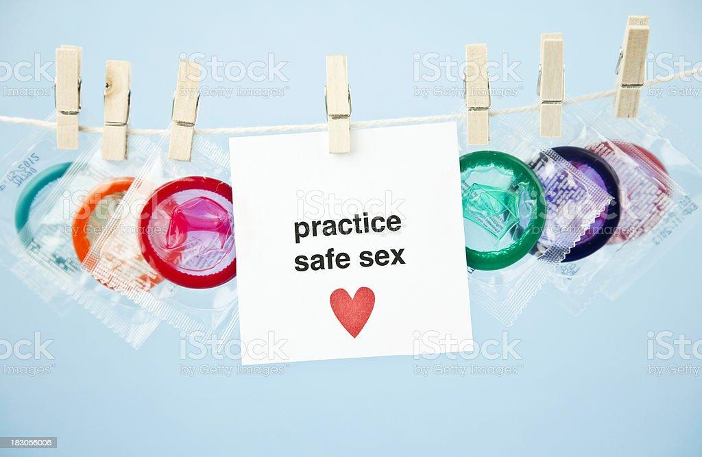 Promote Safe Sex royalty-free stock photo