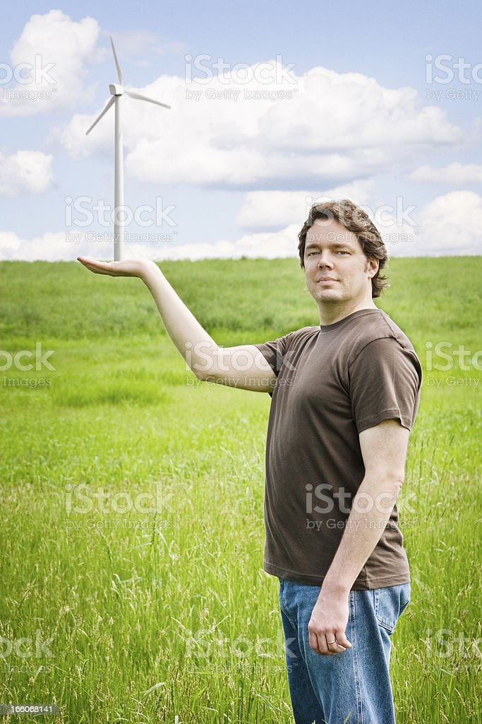 Promote Wind Power stock photo