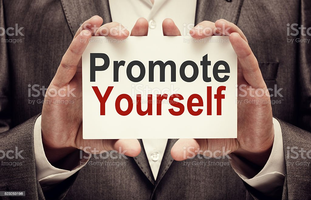 Promote yourself stock photo
