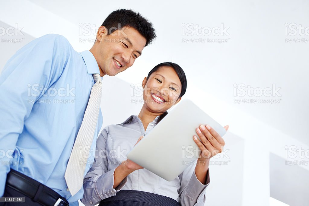 Promoting positive work relations royalty-free stock photo