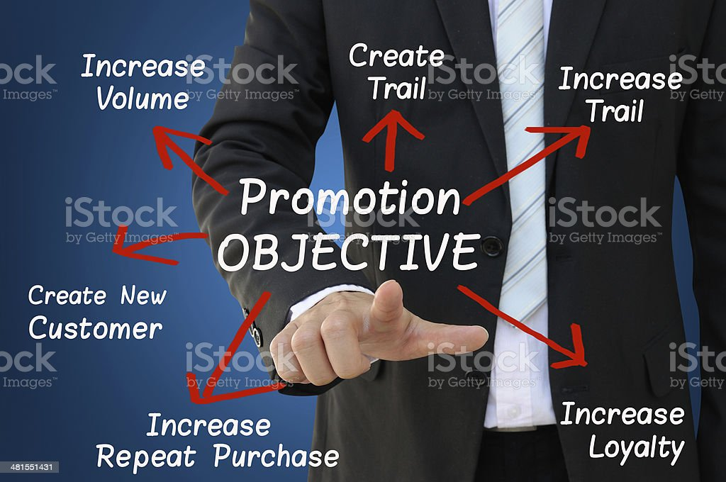 Promotion Objective for Business Development Concept stock photo