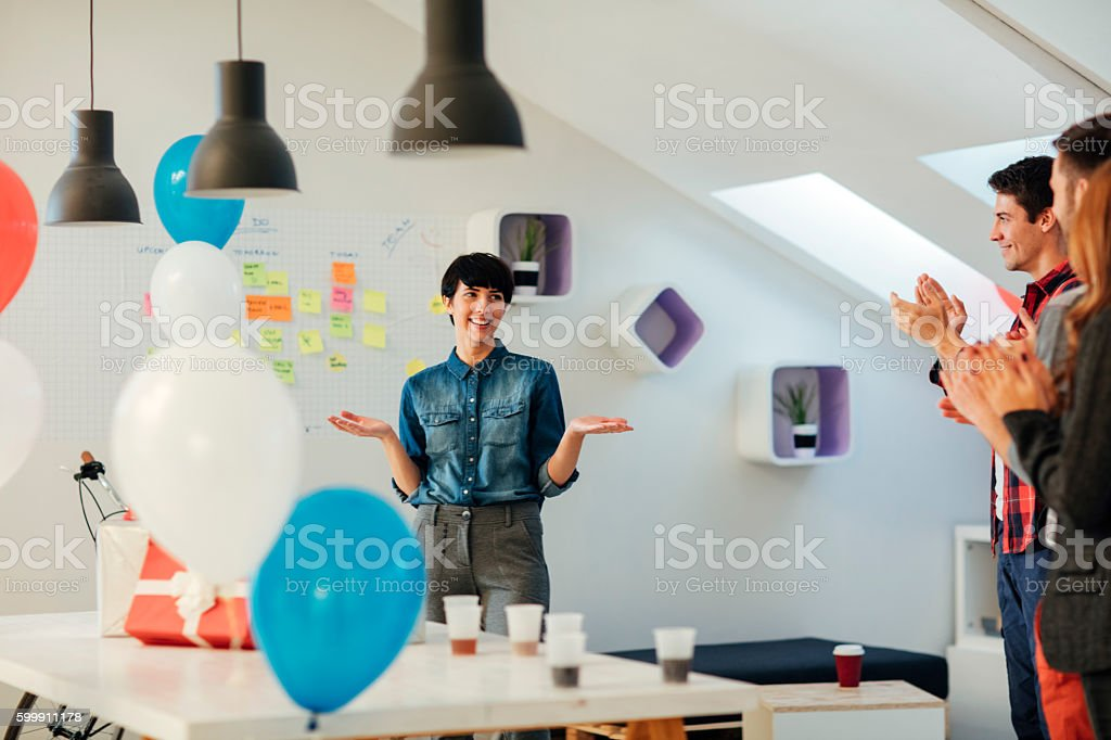 Promotion party. stock photo