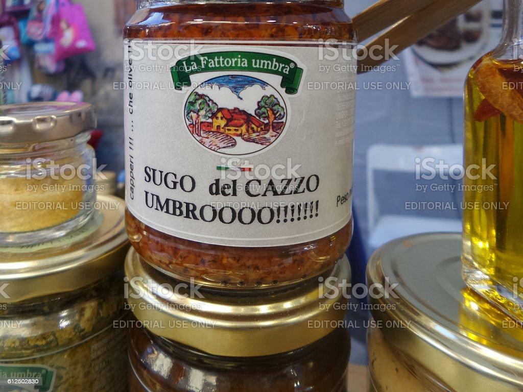 Promotional Marketing For Italian Sauce stock photo