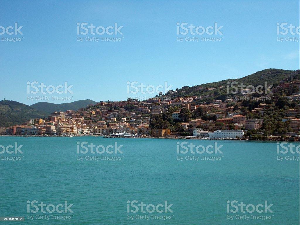 promotorio dell'argentario - porto santo stefano stock photo