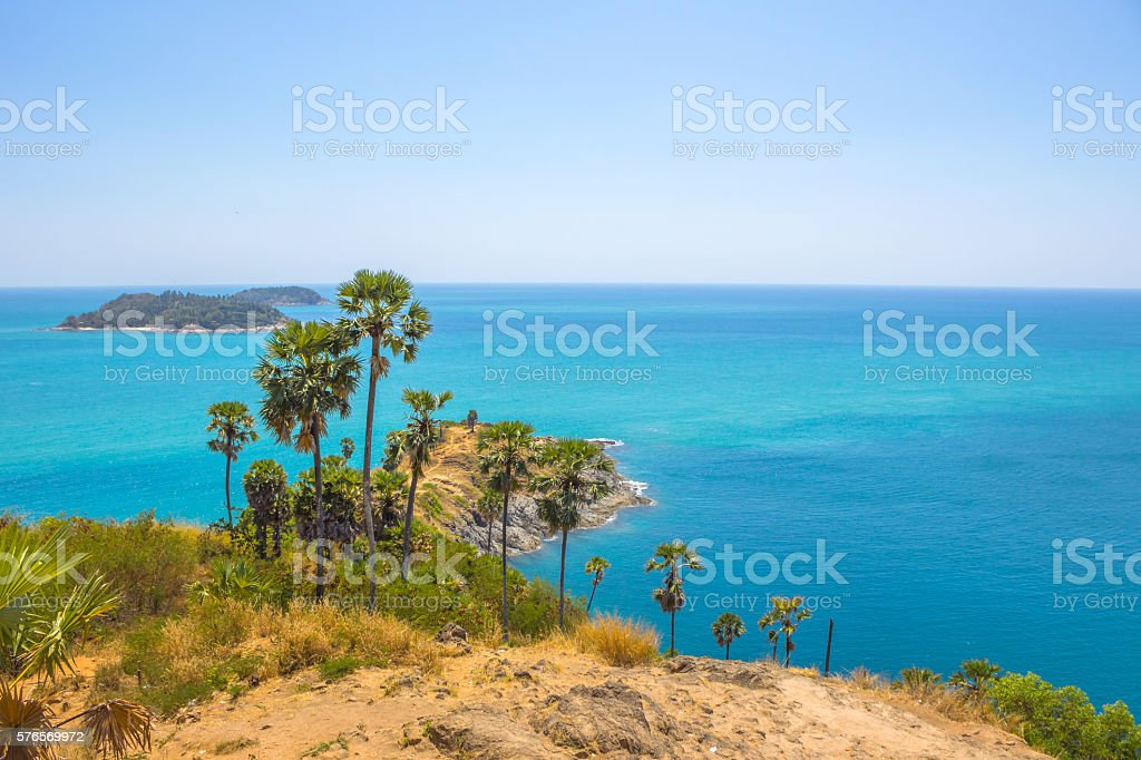 Promthep cape phuket thailand stock photo