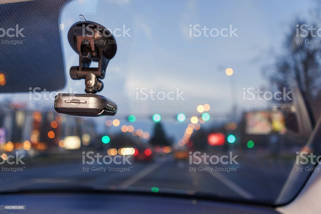 Proof, Safety Camera Inside Car stock photo