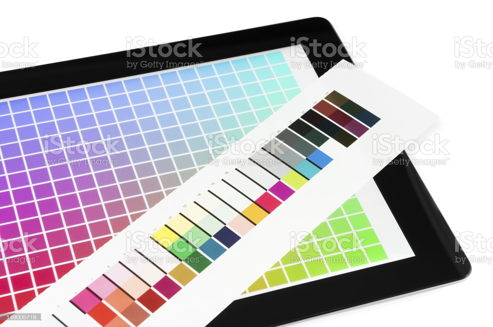 Proofing mobile pc screen royalty-free stock photo