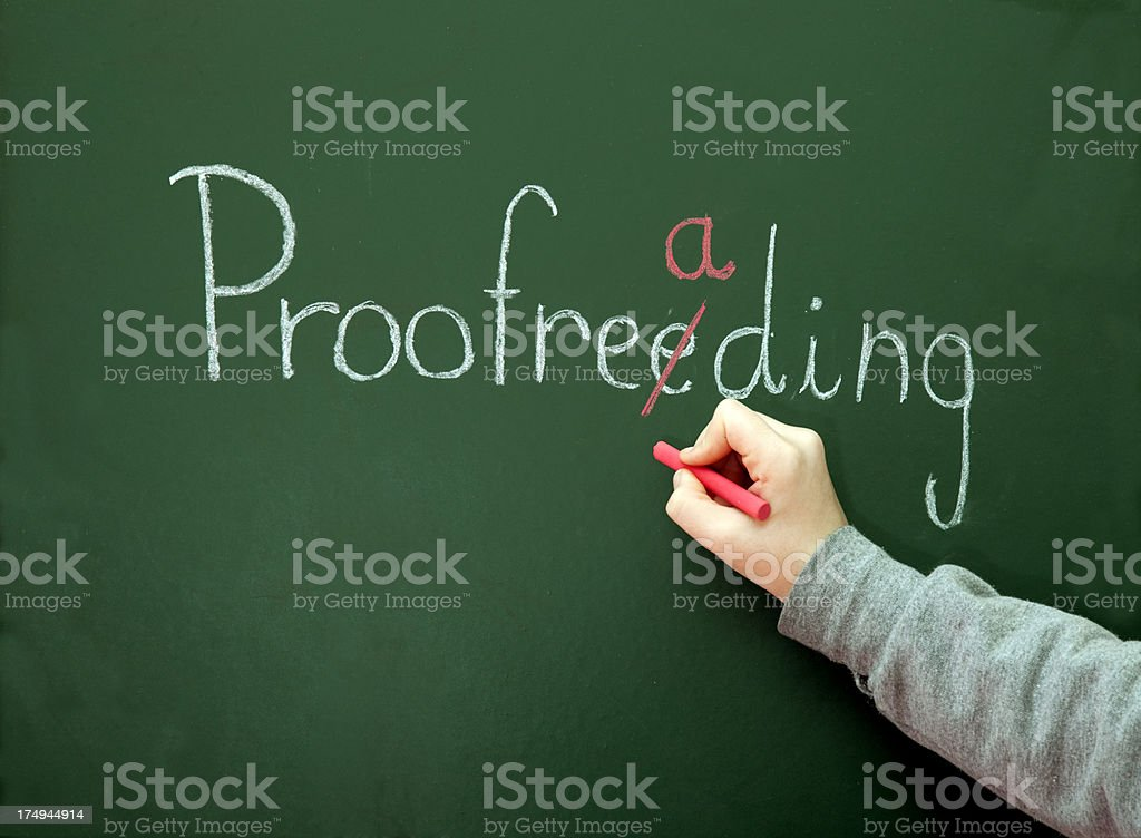 Proofreading stock photo