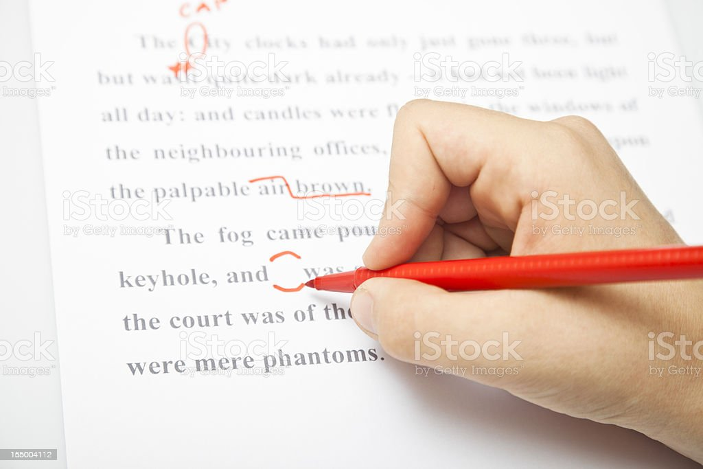 Proofreading services stock photo