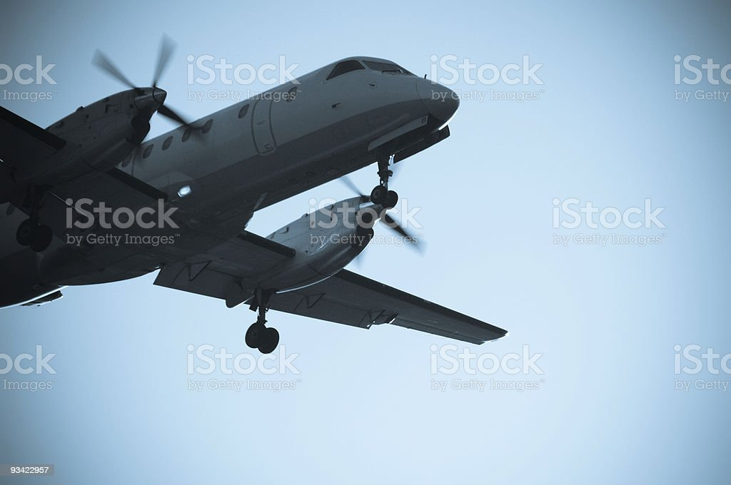 Prop Airliner stock photo