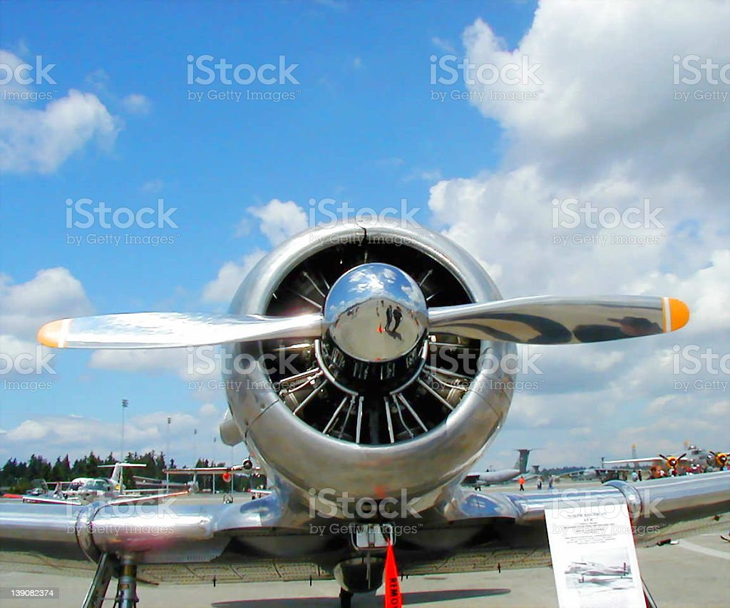 AT-6 Prop stock photo