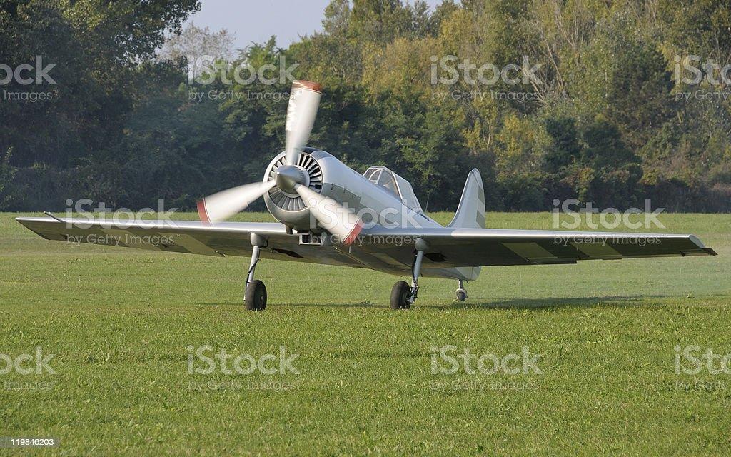 Prop plane stock photo