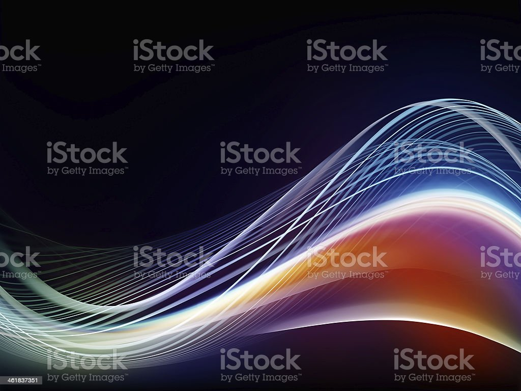 Propagation of Fractal Waves stock photo