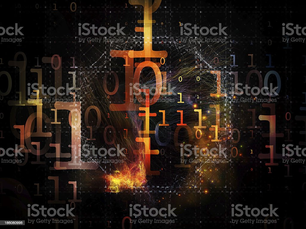 Propagation of Numbers royalty-free stock photo