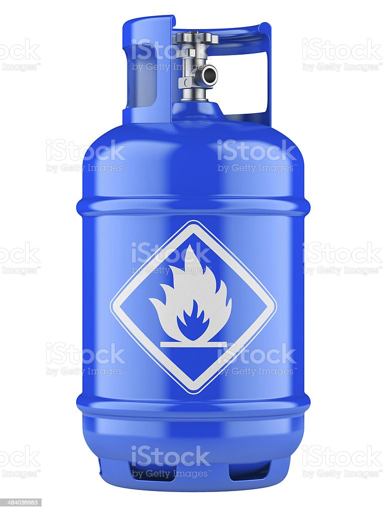 Propane cylinders with compressed gas stock photo