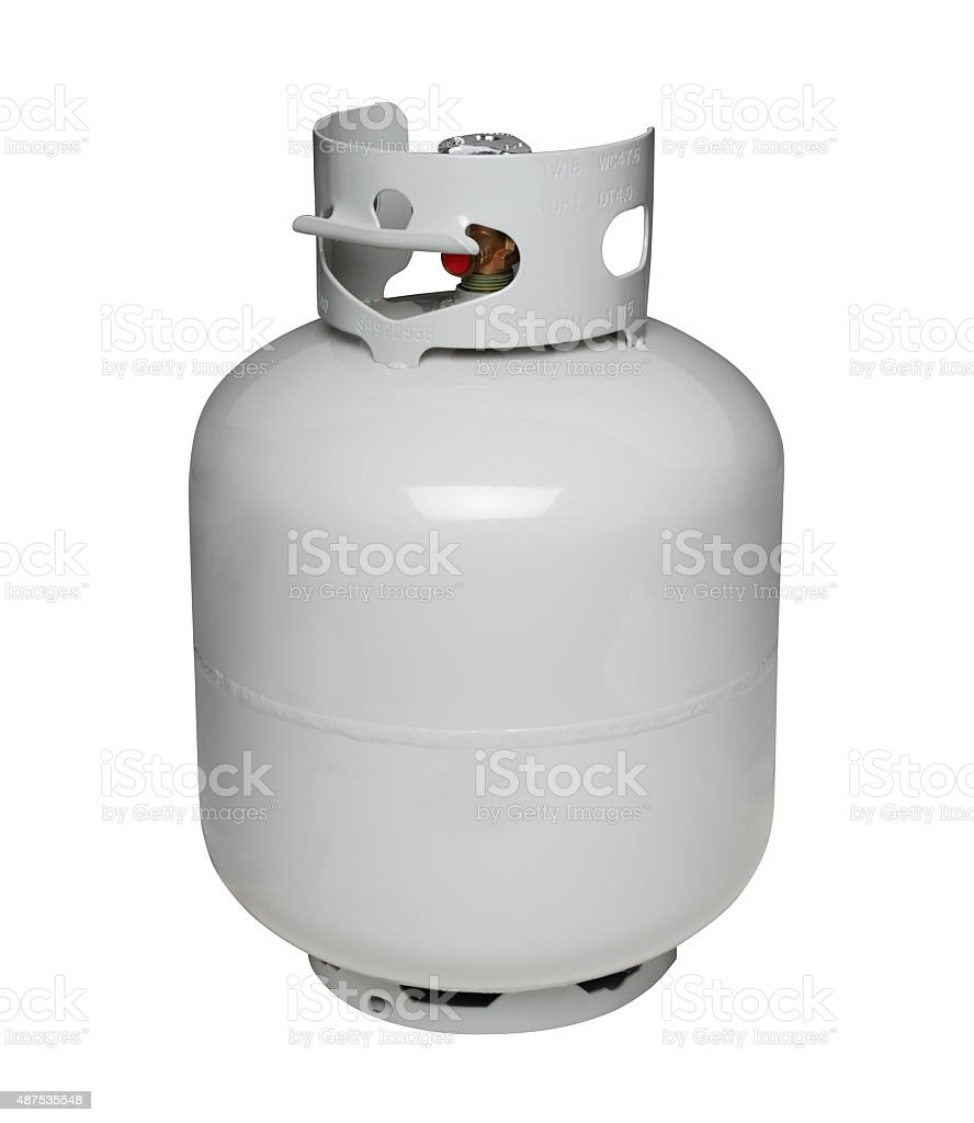 Propane gas cylinder, isolated on white stock photo