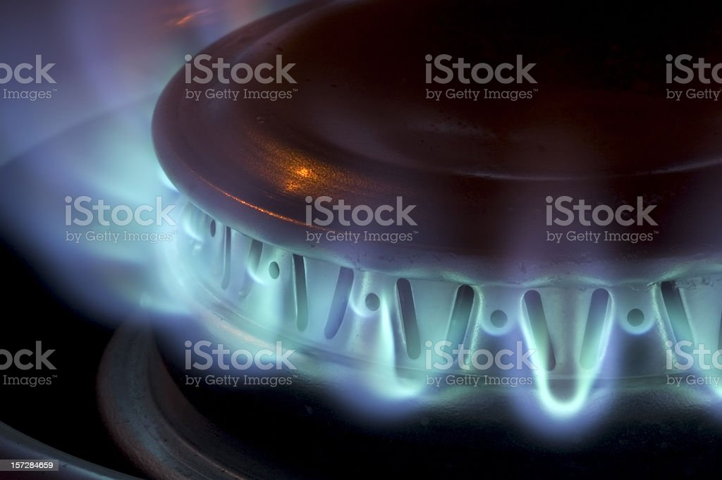 Propane Stove Burner. stock photo