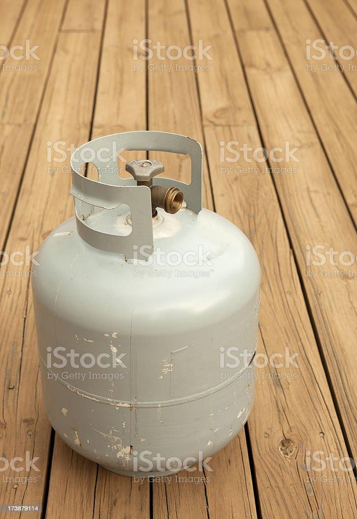 Propane Tank on Deck royalty-free stock photo