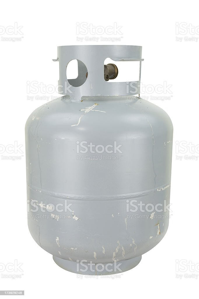Propane Tank with Path royalty-free stock photo