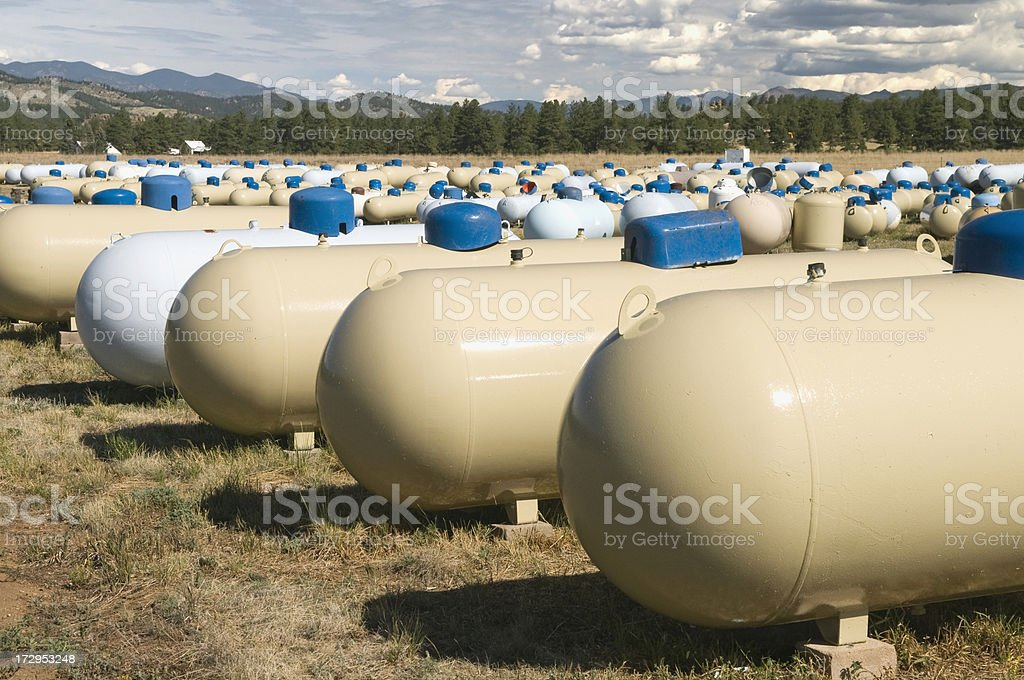 Propane Tanks stock photo