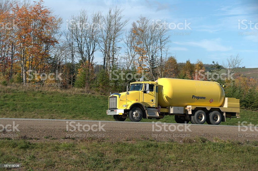 Propane truck royalty-free stock photo