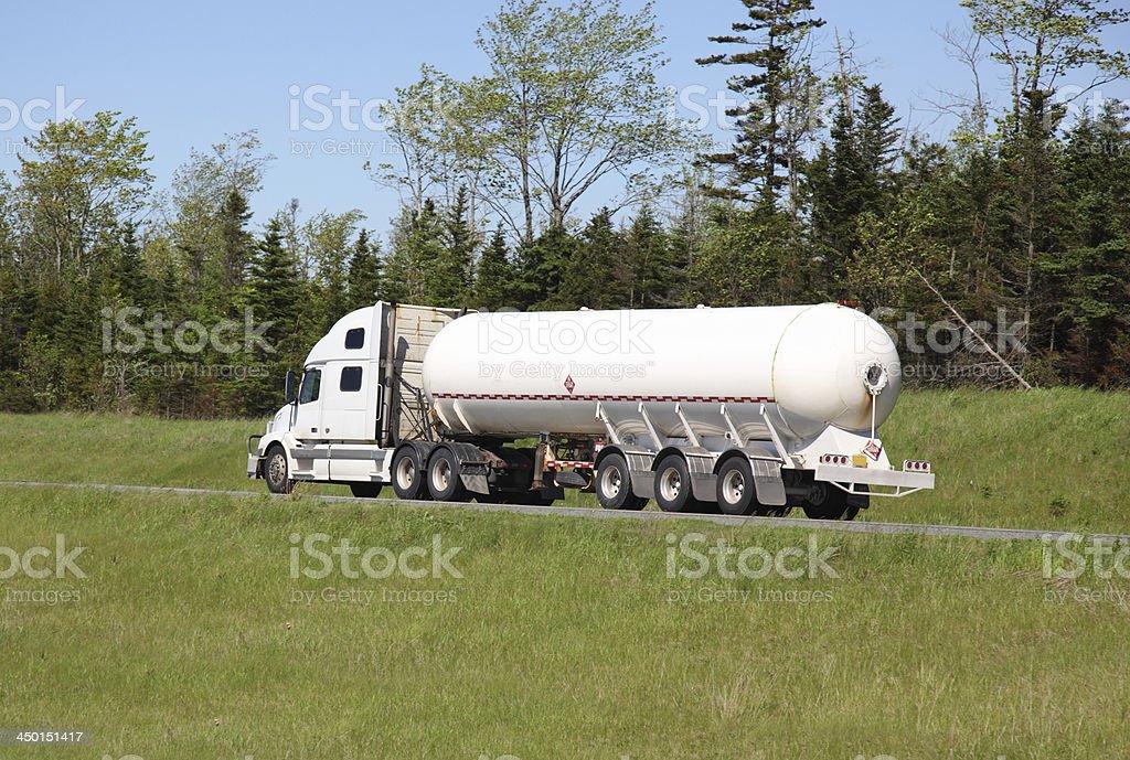 Propane truck royalty-free stock photo
