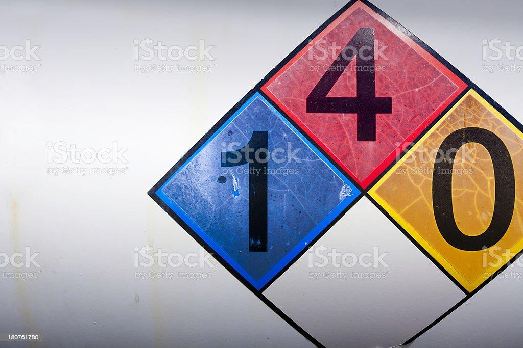 Propane warning sign royalty-free stock photo