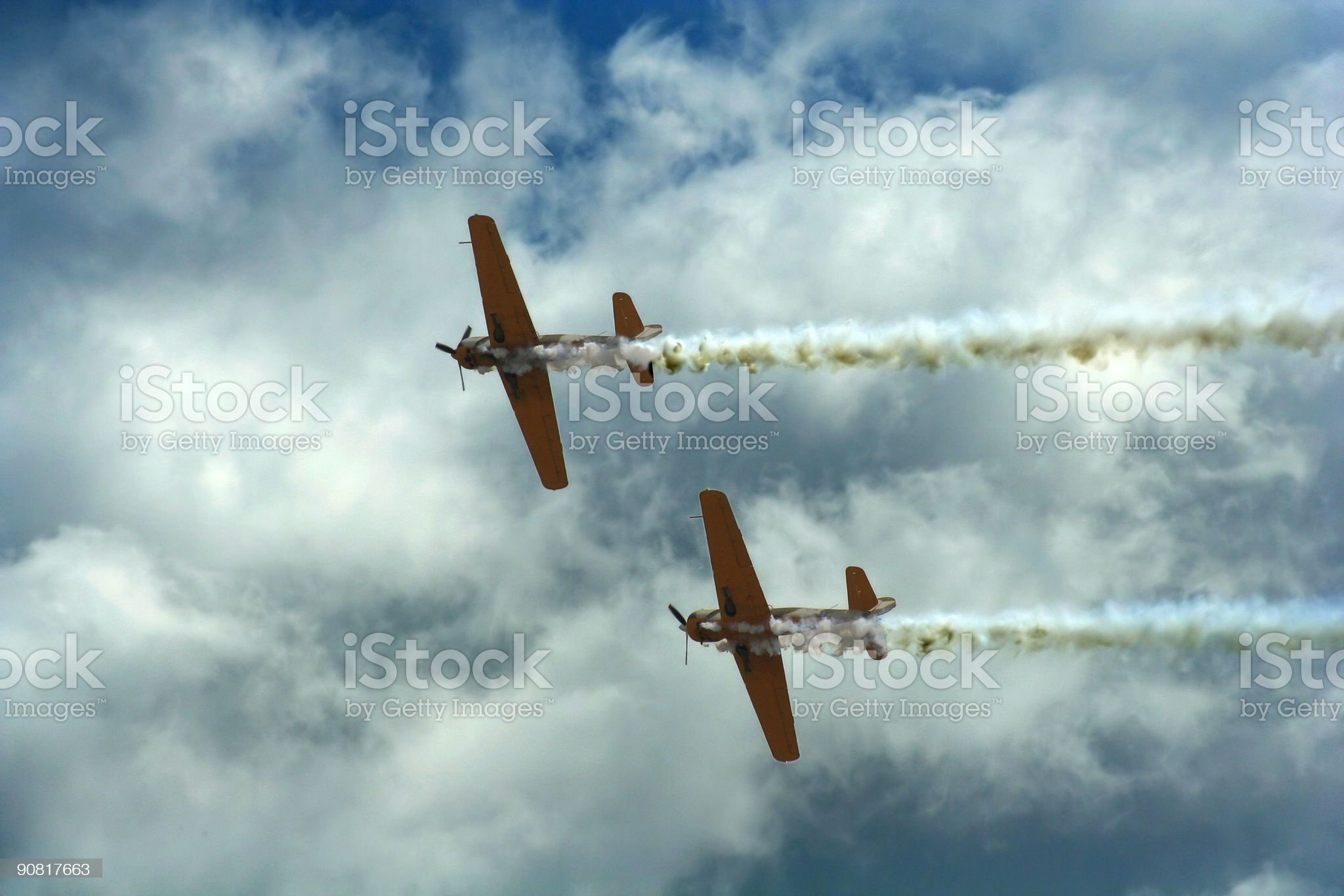 propeller aircrafts during air show royalty-free stock photo