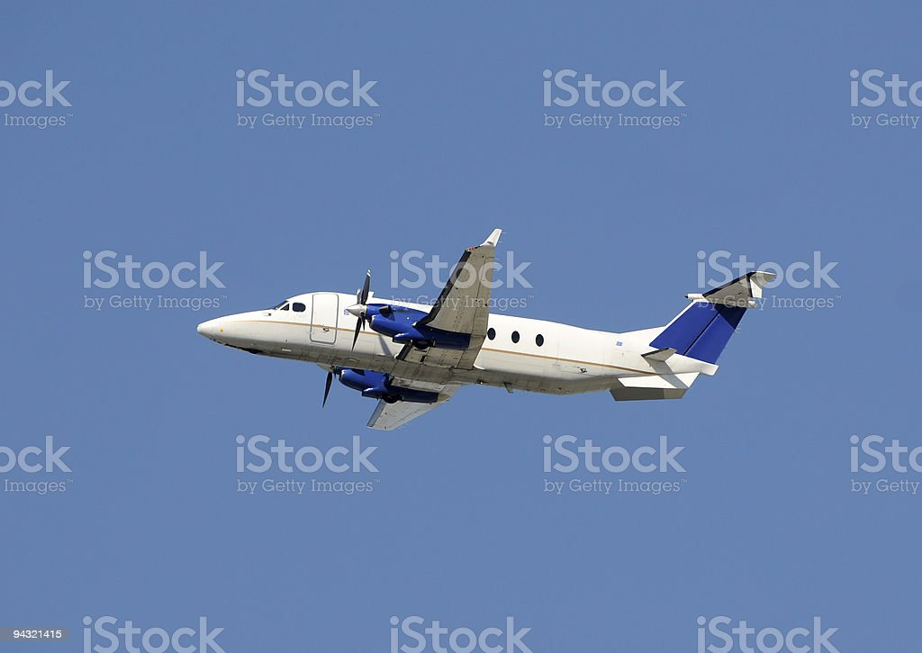 Propeller airplane royalty-free stock photo