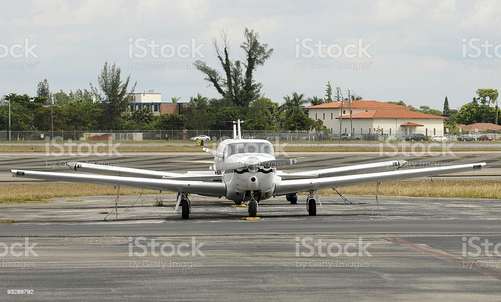 Propeller airplanes royalty-free stock photo
