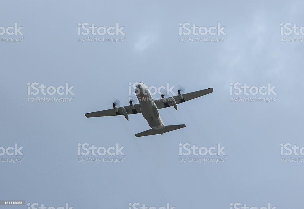Propeller Cargo Airplane royalty-free stock photo