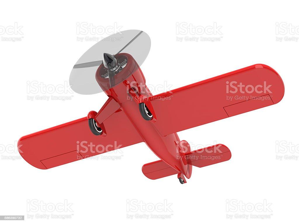 Propeller plane isolated on white. 3D render stock photo