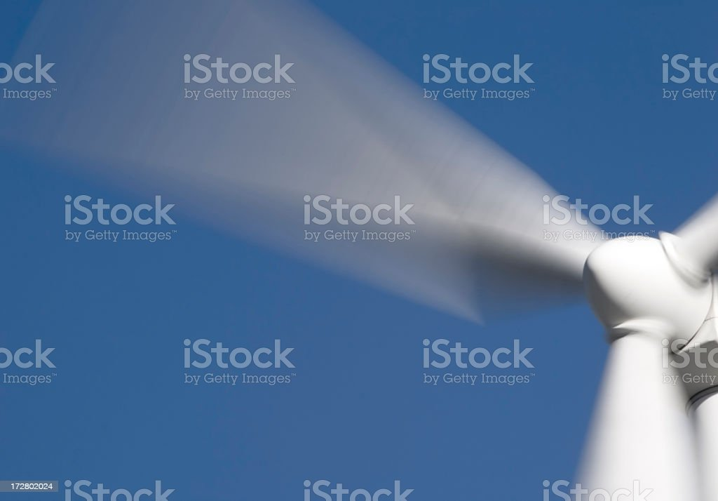 Propeller spinning fast making wind energy royalty-free stock photo