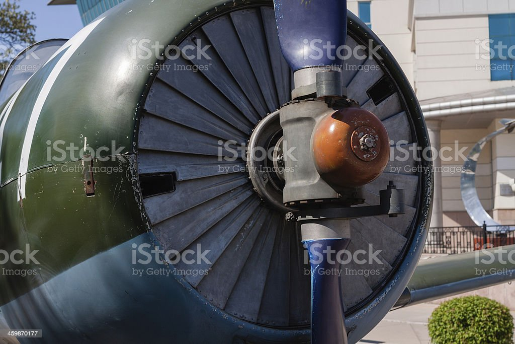 Propellers of Nanchang CJ-6 royalty-free stock photo